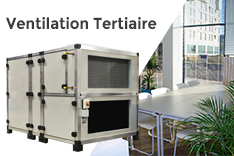 ROTOBOX ventilation double flux tertiaire